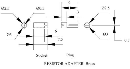 Figure 5: Resistor adapter.