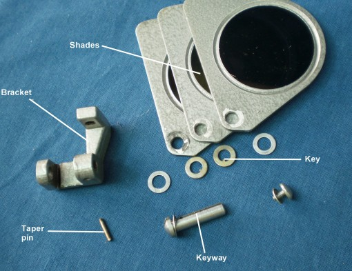 Figure 5: Shades assembly exploded.