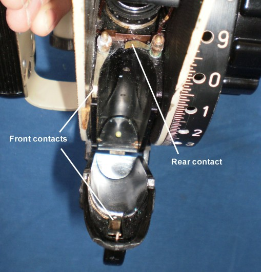 Figure 22: Contacts inside battery housing.