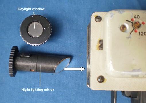 Figure 16: Fittings for bubble illumination.