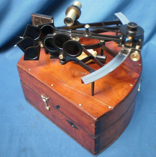 Figure 1: Restored sextant and case.