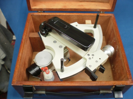Figure 12: Sextant stowed in its case.