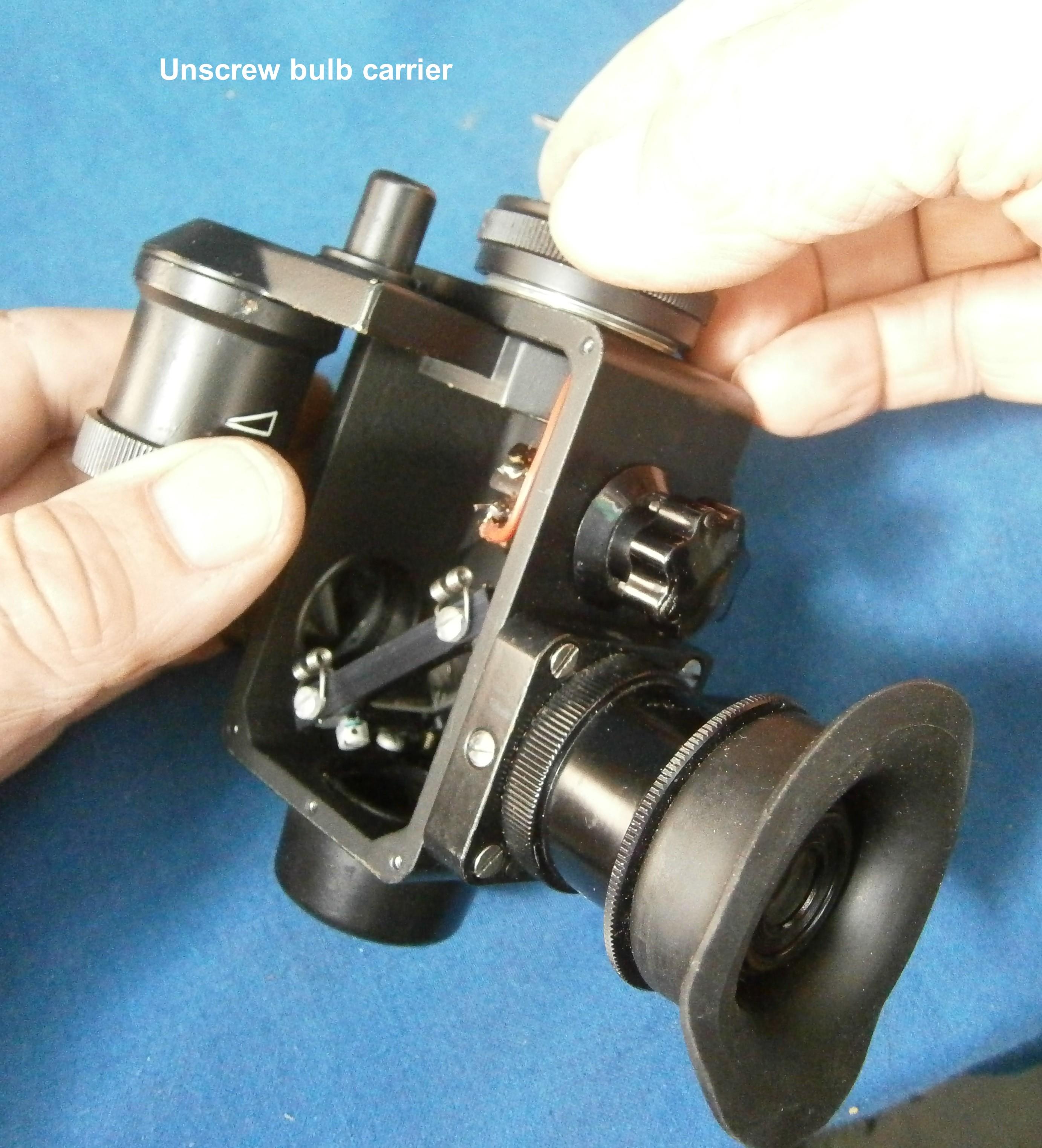 Figure 2: Remove lamp holder.