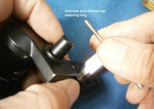 Figure 5: Remove top retaining ring.