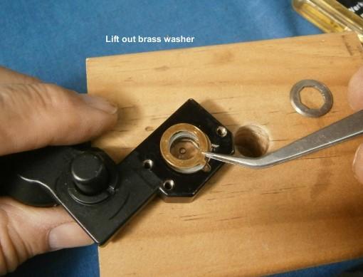 Figure 6: Remove washer.