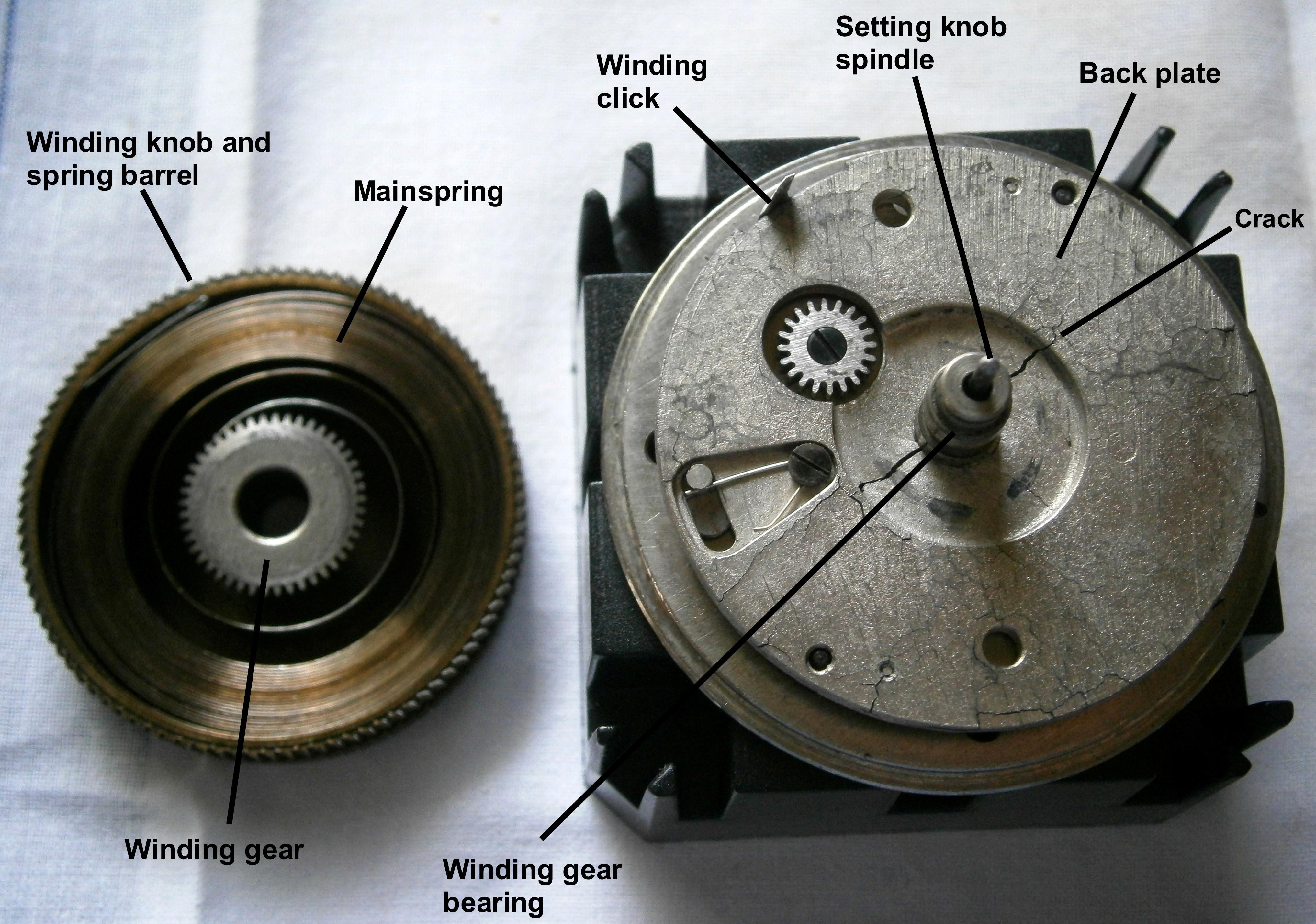 Figure 7: Winding gear detail.