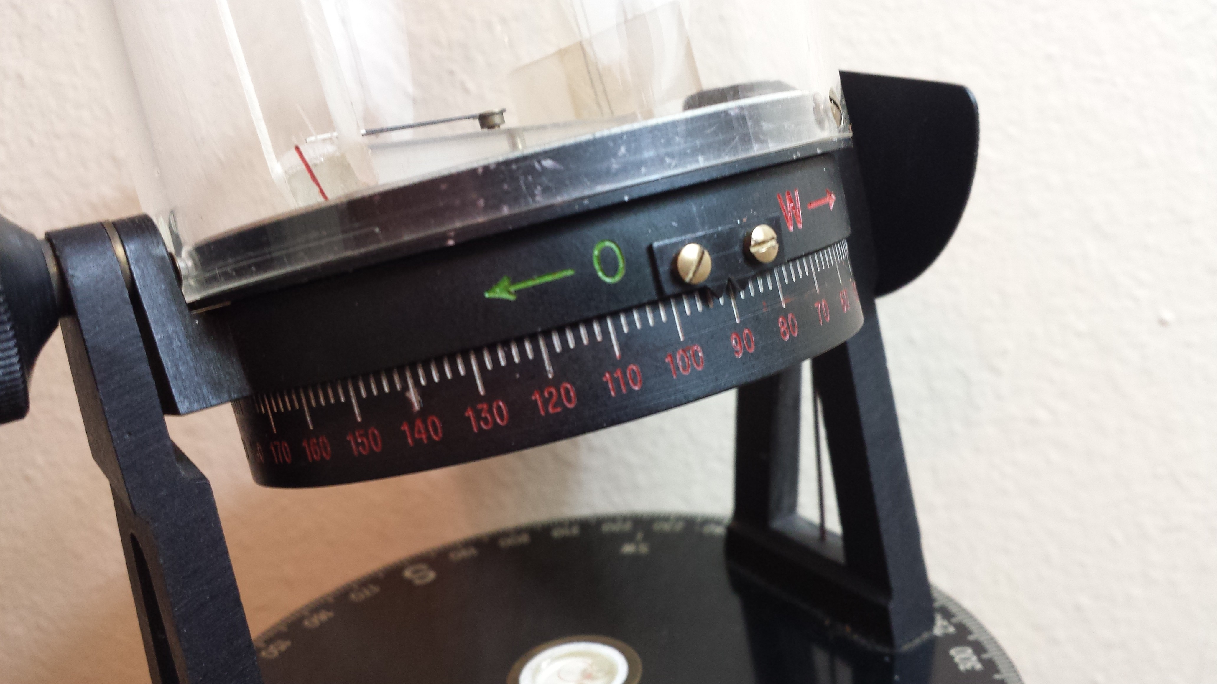 Figure 4: Equatorial mounting ring and longitude scale.