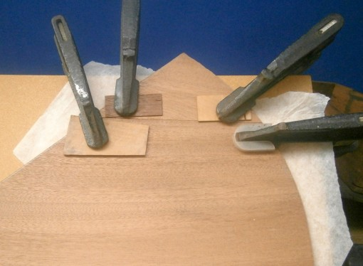Figure 7: Clamping an edge joint.