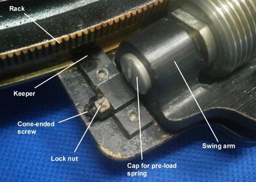 Figure 4: Detail of micrometer mechanism.