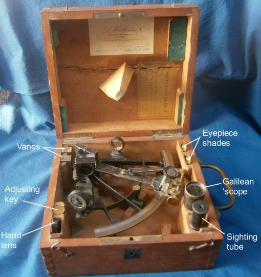Figure 2: Sextant as received.