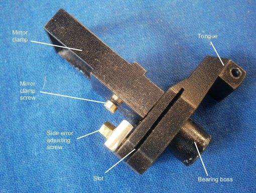 Figure 7: Horizon mirror bracket and clamp.