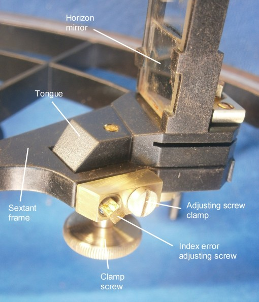 Figure 9: General view of horizon mirror adjustments.