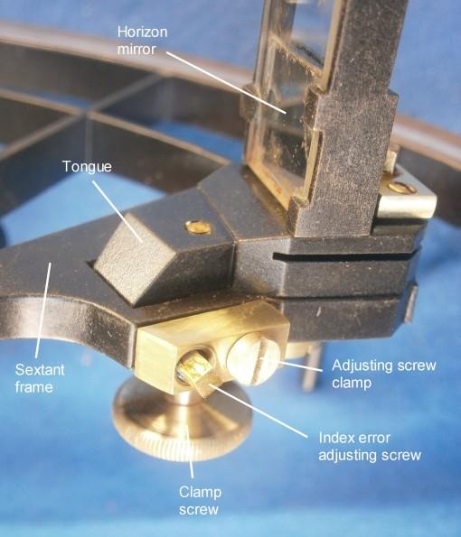 Figure 9: General view of horizon mirror adjustments.
